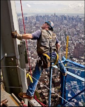 Freedom Tower Construction Worker