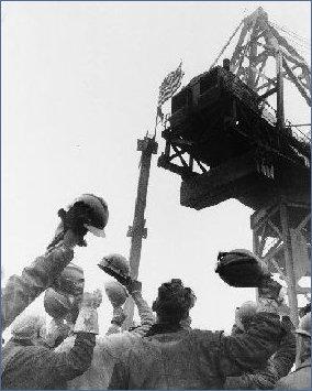 Final Beam Hoisted 1971