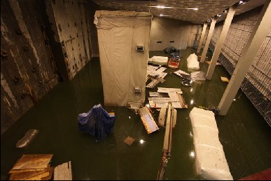 Flooded 9/11 Museum
