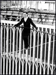 Philippe Petit and the Twin Towers